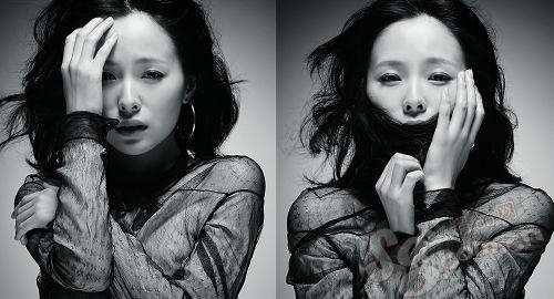 图文:江一燕简约风情--黑白情怀