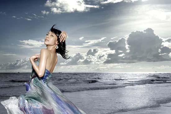 图文:张茜菲律宾写真-迷人的海边