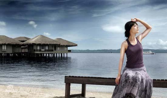 图文:张茜菲律宾写真-享受美丽的日光