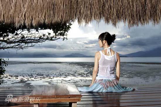 图文:张茜菲律宾写真-静静的海边