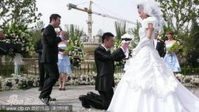 王学兵孙宁办中西合璧婚礼新娘幸福落泪(组图)