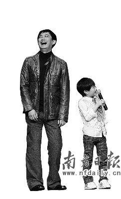 """""""火星宝贝""""孙天宇在发布会上童言无忌。"""