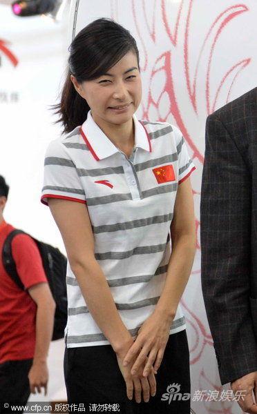 郭晶晶领衔出席伦敦奥运会中国代表团领奖服发布活动。cfp图