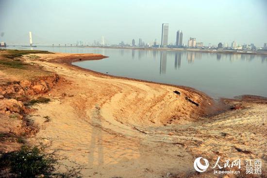 赣江进入枯水期,水位呈现逐步下降态势。
