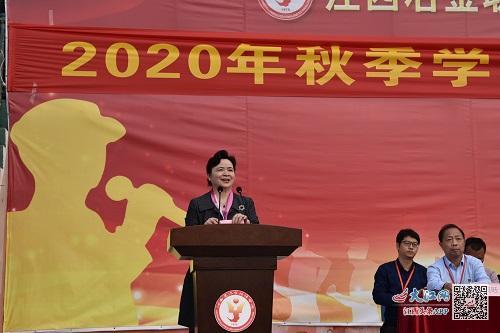 江西冶金职院党委书记皮霞为新生上开学