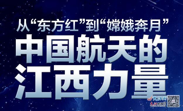 """一图读懂丨从""""东方红""""到""""嫦娥奔月"""" 中国航天的江西力量"""