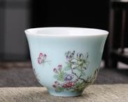 宝瓷林 颜色釉加彩单杯